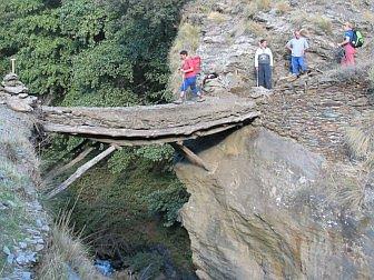 Photo of hiking path over bridge