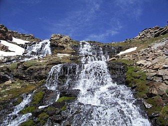 Photo of waterfall in the Alpujarra at Sierra Nevada